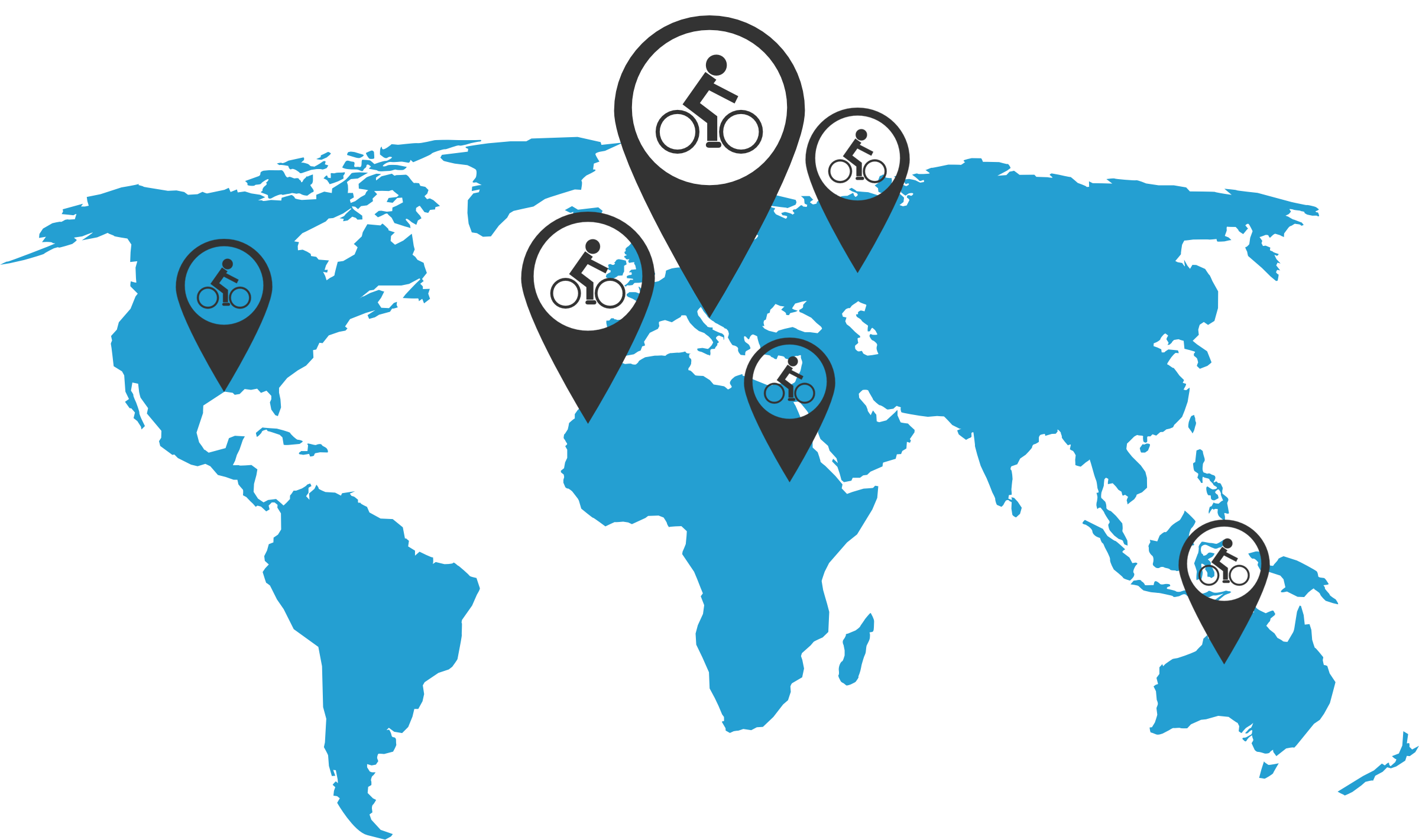 Bikedesk customers over the world
